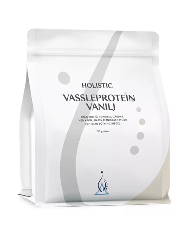 Vassleprotein vanilj 750 gram Holistic