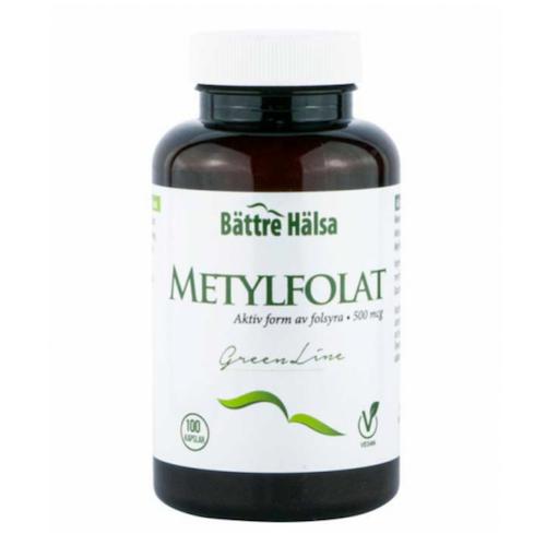 Metylfolat Green Line 100 kapslar Bättre Hälsa