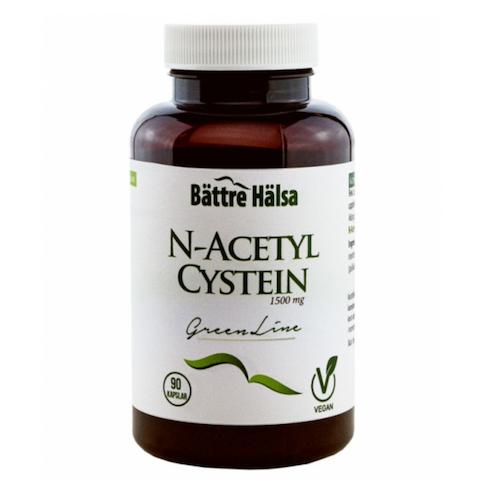 N-Acetyl Cystein Green Line 90 kapslar Bättre Hälsa