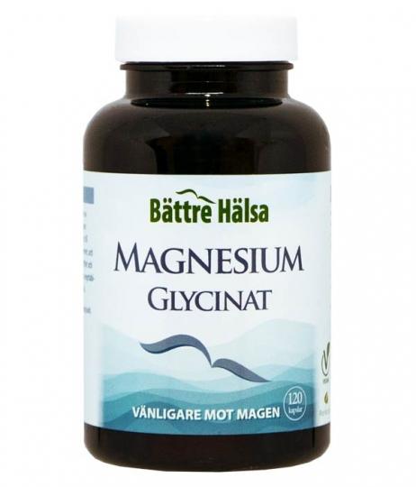 Magnesiumglycinat 120 kapslar Bättre Hälsa