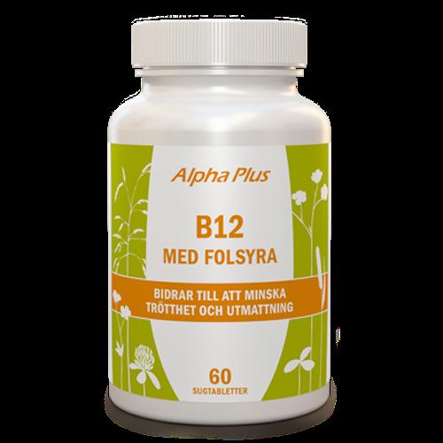 B12 med folsyra 60 sugtabletter Alpha Plus