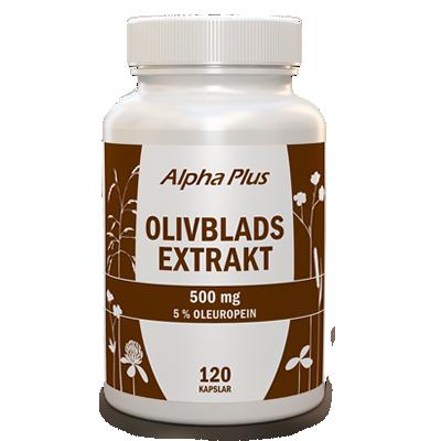 Olivbladsextrakt 120 kapslar Alpha Plus