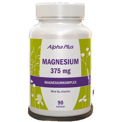 Magnesium 375 mg 90 kapslar Alpha Plus