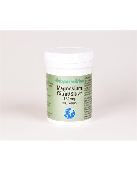 Magnesiumcitrat 150 mg 100 kapslar Örtspecialisten