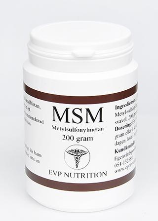 MSM 200 gram EVP