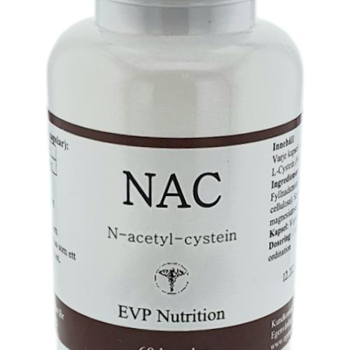 NAC (N-Acetyl-Cystein) 500 mg 60 kapslar EVP