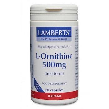 L-Ornitin 500 mg 60 kapslar Lamberts