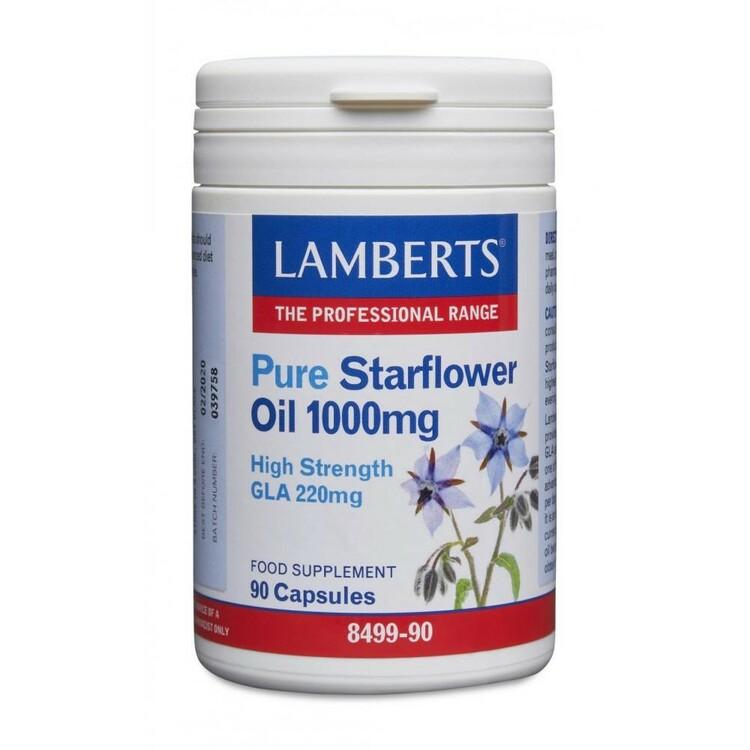 Pure Starflower Oil 1000 mg (Gurkörtsolja) 90 kapslar Lamberts