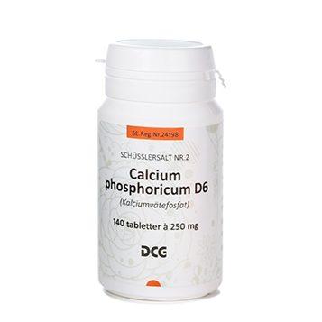 Calcium phosphoricum 250 mg 140 tabletter DCG
