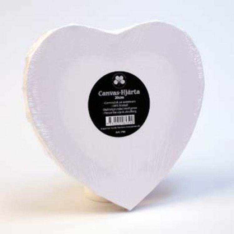 Canvas Hjärta 20 cm