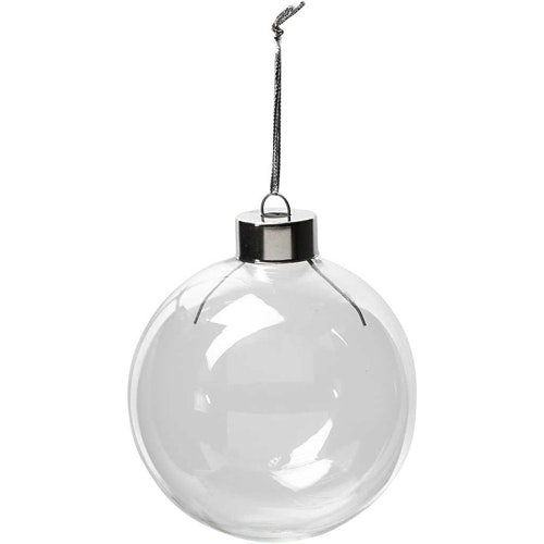Glas julkulor - 7,9cm