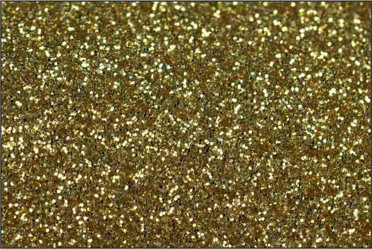 PET Glitter Guld - 6020 metervara bredd 50 cm