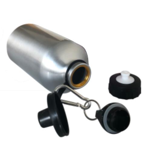 Vattenflaska - Metallic med 2 olika munstycken