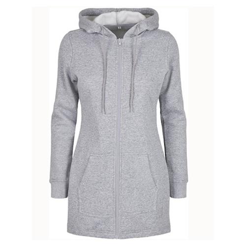 Zip-hoodie Unisex  -  Gråmelerad