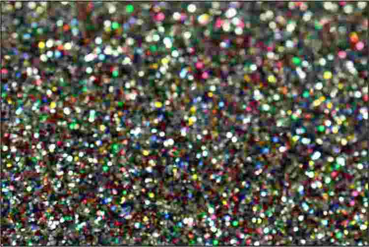 PET Glitter Ljus multifärg - 6098