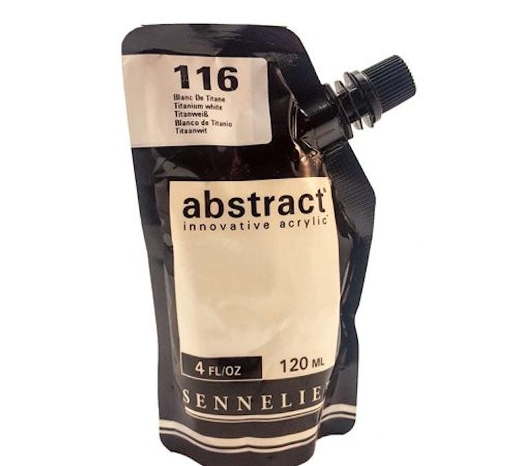 Akrylfärg Sennelier Abstract - Hög pigmentering - Titanium white 116