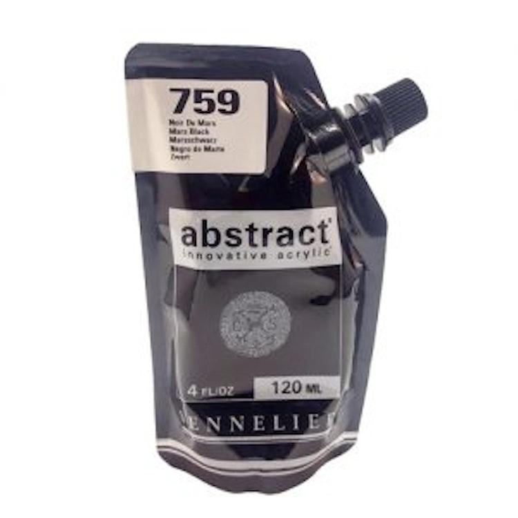 Akrylfärg Sennelier Abstract - Hög pigmentering - Mars Black 759