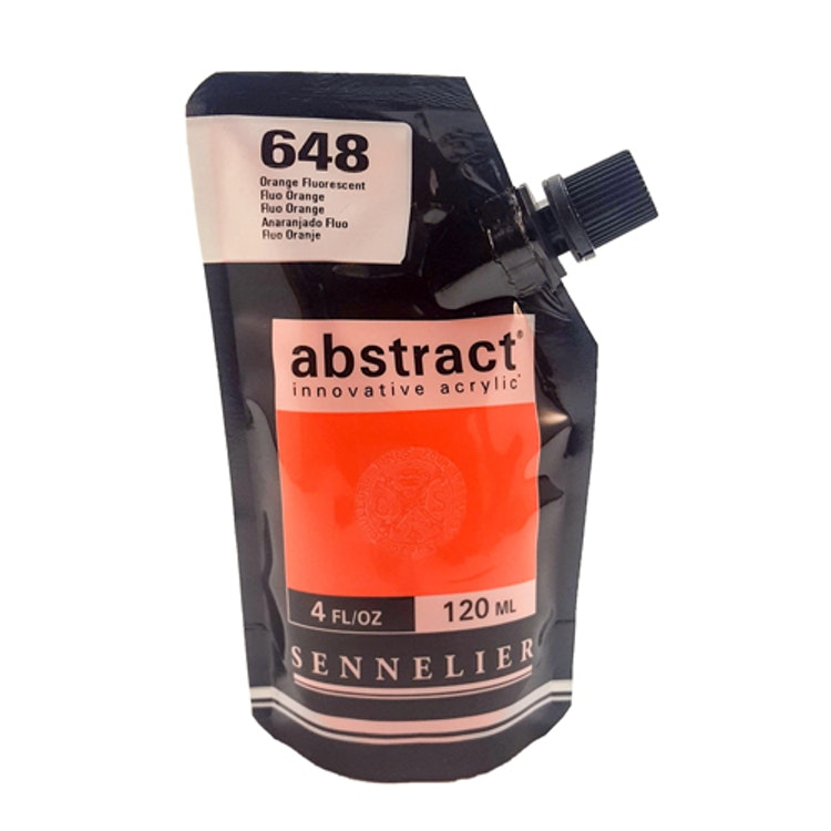 Akrylfärg Sennelier Abstract - Hög pigmentering - Fluo Orange 648