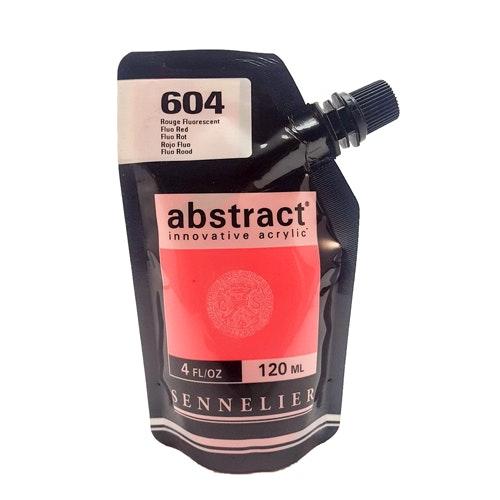 Akrylfärg Sennelier Abstract - Hög pigmentering - Primary fluo red 604