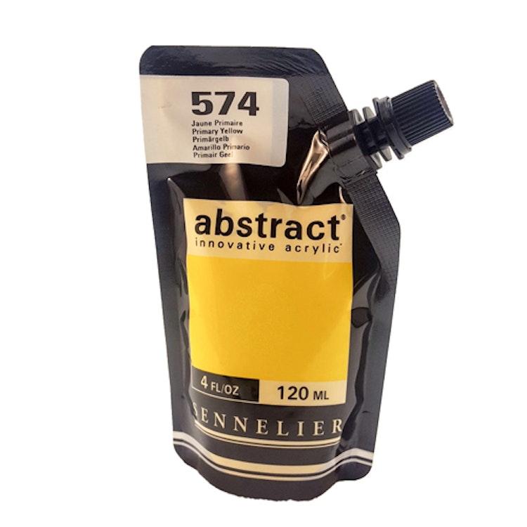 Akrylfärg Sennelier Abstract - Hög pigmentering - Primary Yellow 574