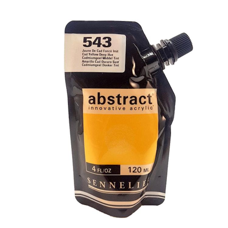 Akrylfärg Sennelier Abstract - Hög pigmentering - Cad Yellow Deep Hue 543