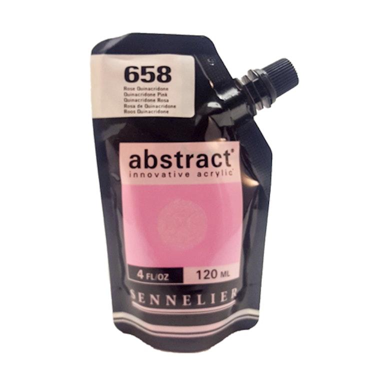 Akrylfärg Sennelier Abstract - Hög pigmentering - Quinacridone Pink 658