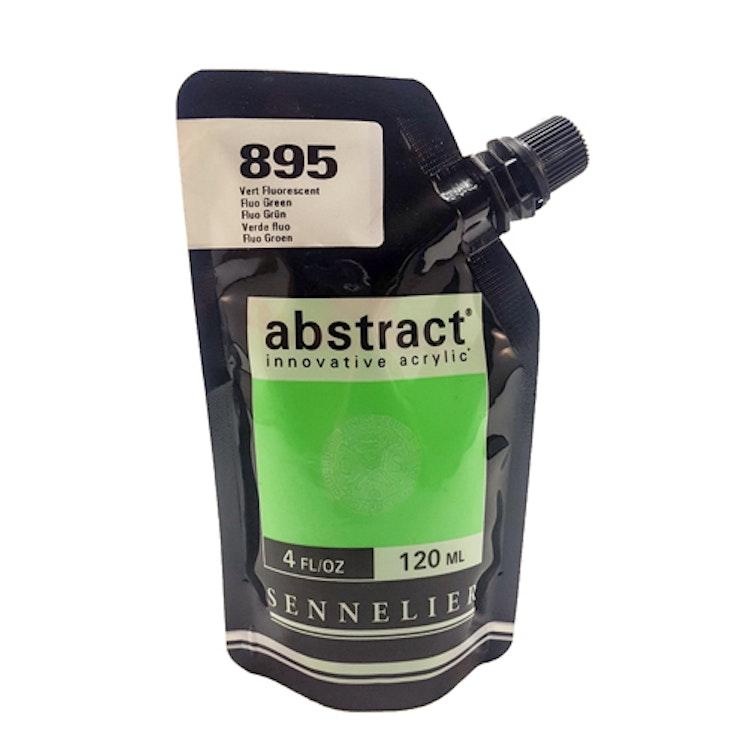 Akrylfärg Sennelier Abstract - Hög pigmentering - Fluo Green 895