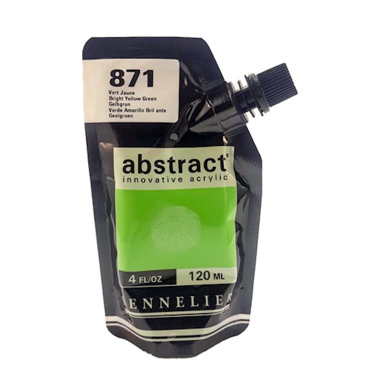 Akrylfärg Sennelier Abstract - Hög pigmentering - Bright Yellow Green 871