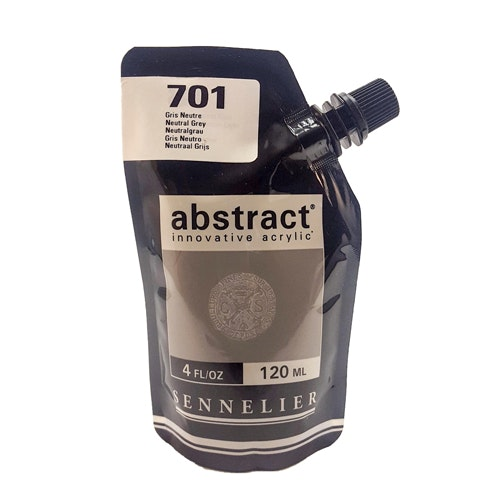 Akrylfärg Sennelier Abstract - Hög pigmentering - Neutral Grey 701
