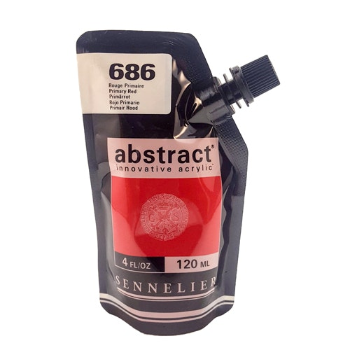 Akrylfärg Sennelier Abstract - Hög pigmentering - Primary Red 686