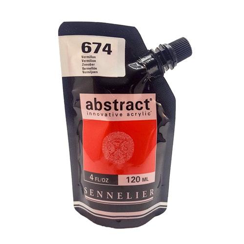Akrylfärg Sennelier Abstract - Hög pigmentering - Vermilion 674