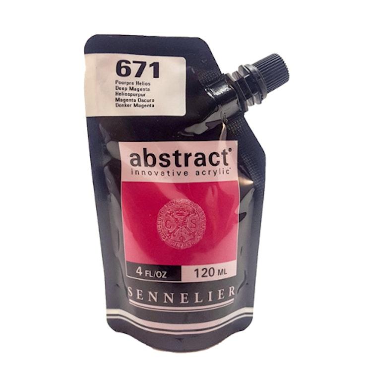 Akrylfärg Sennelier Abstract - Hög pigmentering - Deep Magenta 671