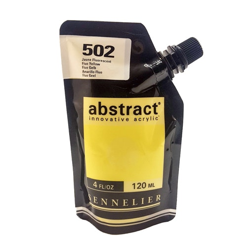 Akrylfärg Sennelier Abstract - Hög pigmentering - Fluo Yellow 502
