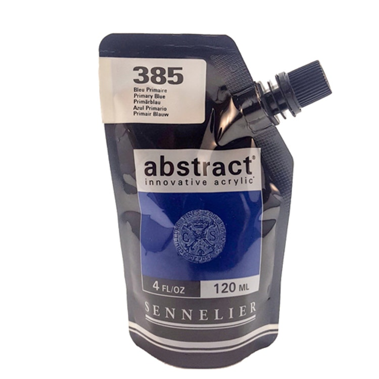 Akrylfärg Sennelier Abstract - Hög pigmentering - Primary Blue 385