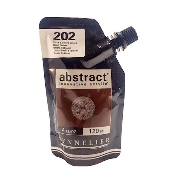 Akrylfärg Sennelier Abstract - Hög pigmentering - Burnt Sienna 202