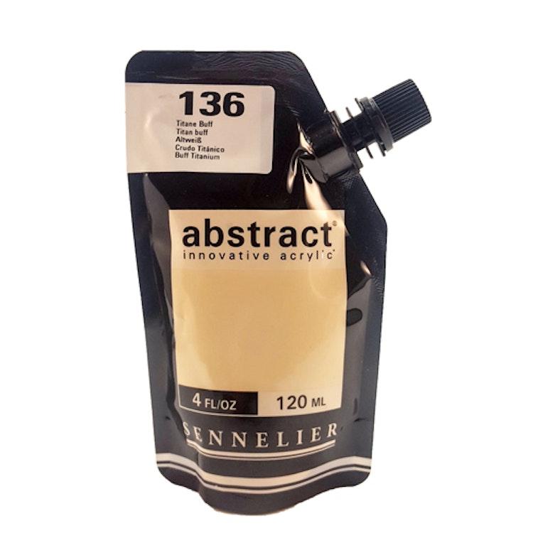 Akrylfärg Sennelier Abstract - Hög pigmentering - Titan buff (off white) 136