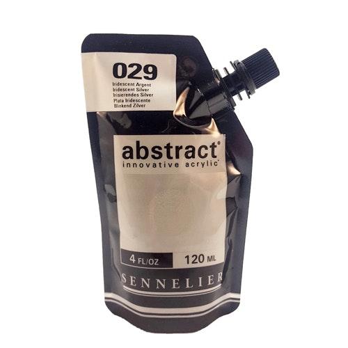 Akrylfärg Sennelier Abstract - Hög pigmentering - Iridescent Silver 029