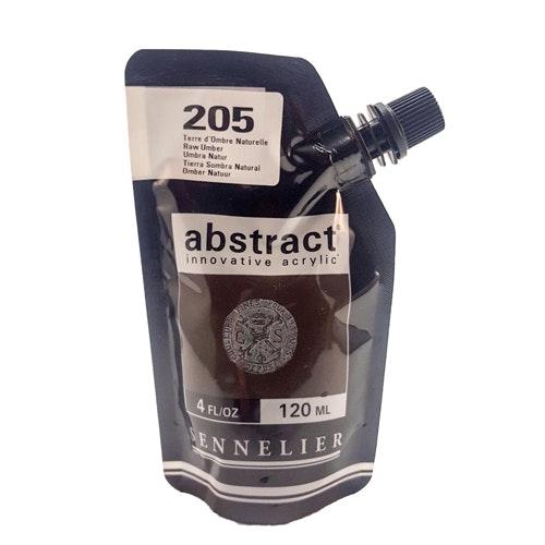 Akrylfärg Sennelier Abstract - Hög pigmentering - Raw Umber 205