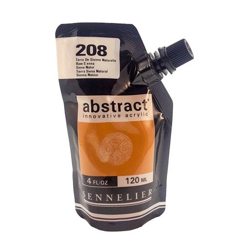 Akrylfärg Sennelier Abstract - Hög pigmentering - Raw Sienna 208