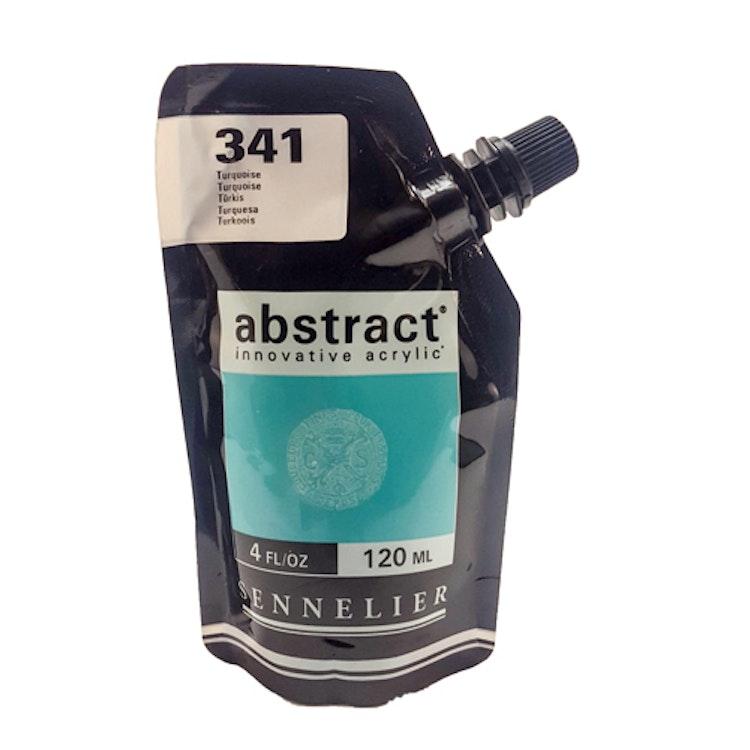 Akrylfärg Sennelier Abstract - Hög pigmentering - Turquoise 341