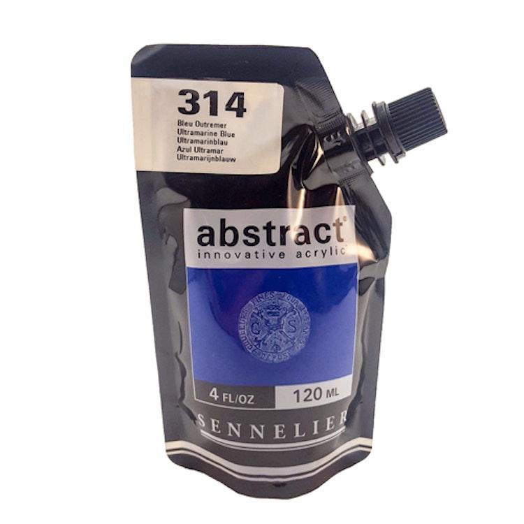 Akrylfärg Sennelier Abstract - Hög pigmentering - Ultramarine Blue 314