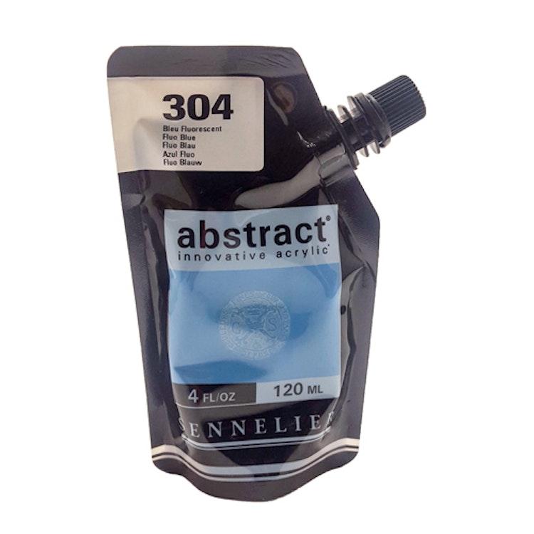 Akrylfärg Sennelier Abstract - Hög pigmentering - Fluo Blue 304