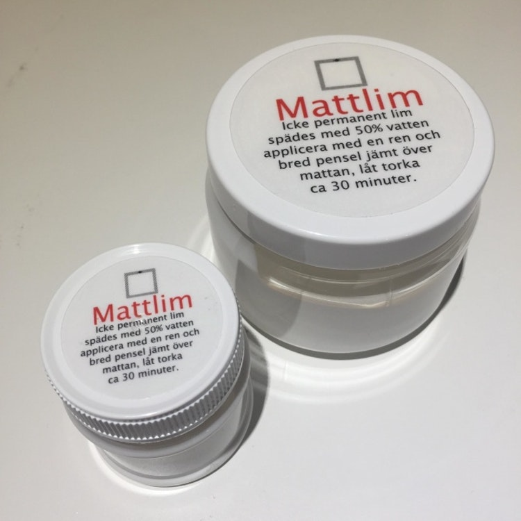 Skärmattelim - Mattlim - Återhäftningsbart lim