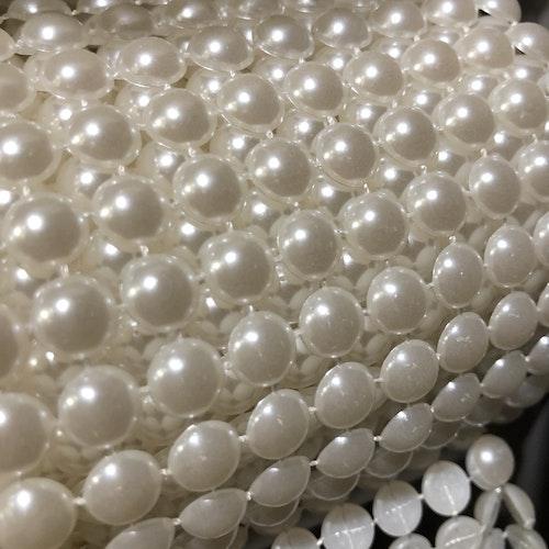 Pärlbandband - vit  stor