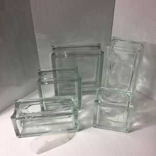 Glasblock/Glasvas 19x19cm Klar