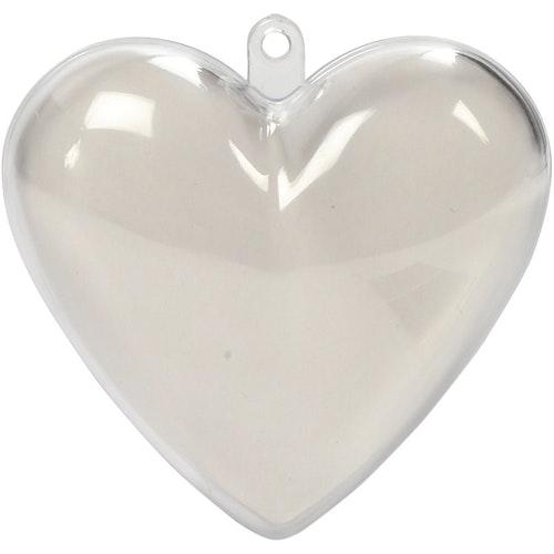 Delbara plasthjärtan 6,5 cm