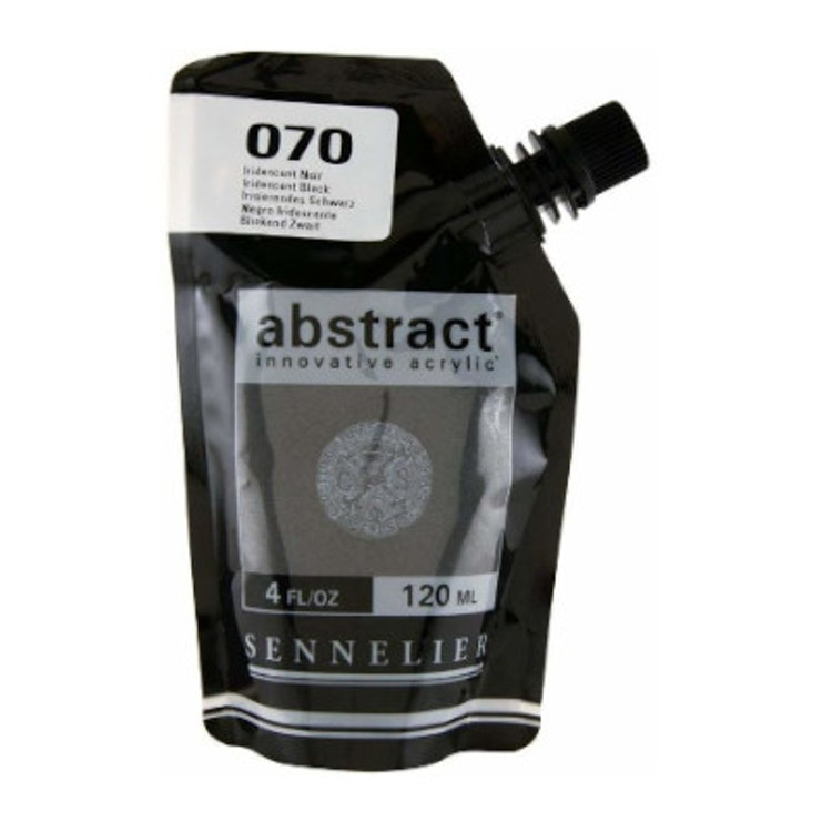 Akrylfärg Sennelier Abstract - Hög pigmentering - Iridescent Black 070
