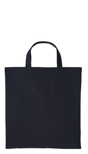 Textilkasse enkel kort handtag - Black 47