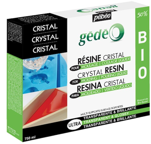 Resin Epoxi Pebeo Crystal Resin Biorganic kit 750 ml