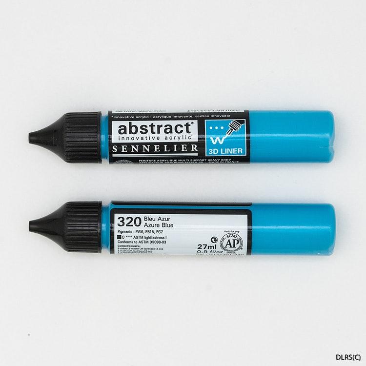 3D liner - Azurblå blå
